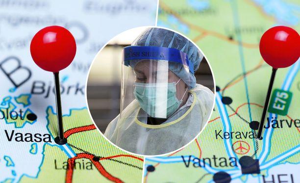 Uusia joukkoaltistumisia on todettu Keravalla, ja Turussa Vaasassa.