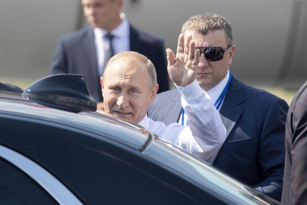 Vladimir Putin saapui Helsinki-Vantaalle viimeksi 16.7.2018.