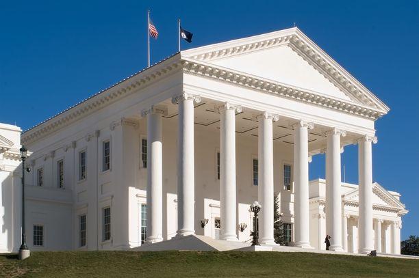 Virginia on luopumassa kuolemanrangaistuksesta. Kuvassa Richmondin Capitol-rakennus osavaltion pääkaupungissa.