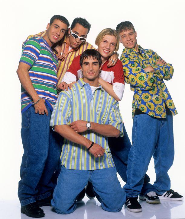 Backstreet Boys ysäritunnelmissa vuonna 1996.