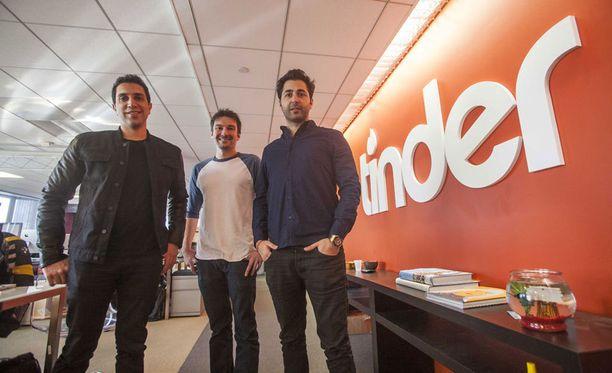 Sean Rad, Jonathan Badeen ja Justin Mateen - miehet Tinderin takana.