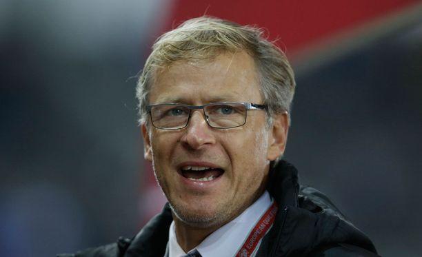 Päävalmentaja Markku Kanerva näki Suomen häviävän Slovenialle.
