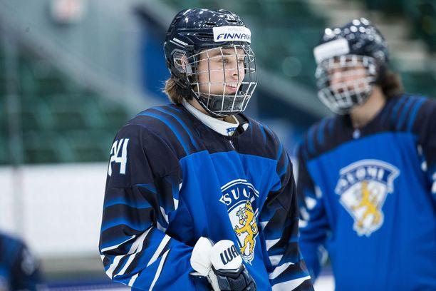 Ville Koivunen teki Suomen avausmaalin Tshekkiä vastaan.