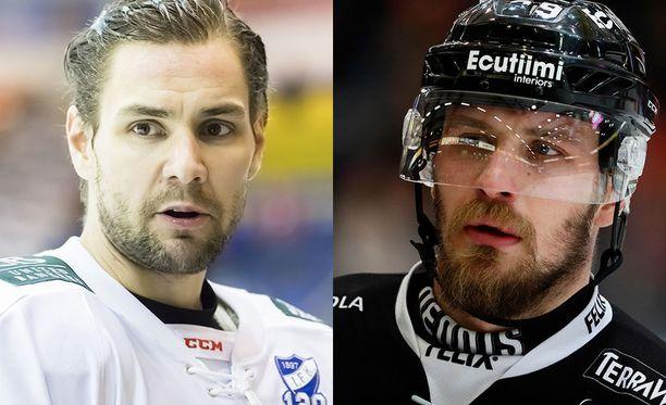 Jerry Ahtola (vas.) ja Jonne Virtanen saivat keskiviikkona syytteet Varsinais-Suomen käräjäoikeudessa.
