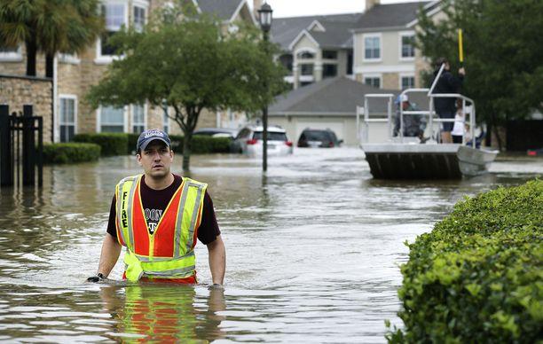 Harvey toi Texasiin ennätysmäiset sateet ja hurjat tulvat. Kuva Houstonista elokuun lopulta.