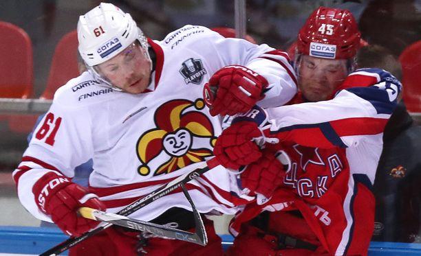 Jokerit kohta taas tänään ZSKA:n KHL:n pudotuspeleissä.