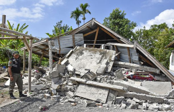 Vain noin viikko sitten Lombokin saarella oli edellinen suuri maanjäristys.