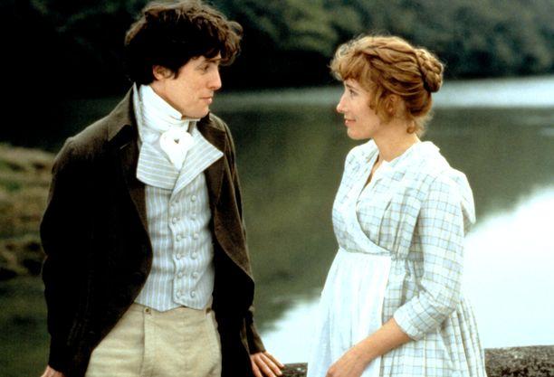 Järki ja tunteet -elokuvassa Edward Ferrars  (Hugh Grant) löytää tiensä Elinor Dashwoodin (Emma Thompson) sydämeen.