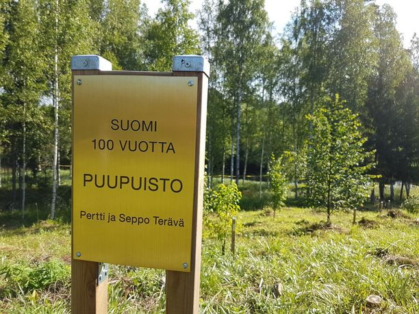 Kahden yksityisen kansalaisen muistomerkki satavuotiaalle itsenäiselle Suomelle.
