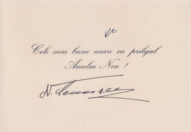 Romanian johtajan Nicolae Ceauescun joulutervehdys vuodelta 1979.