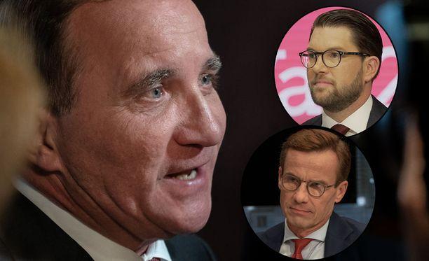 Ruotsin uuden hallituksen kokoonpano on vielä mysteeri. Stefan Löfven haluaisi jatkaa pääministerinä, mutta Ulf Kristersson ja Jimmie Åkesson sitä vastustavat.