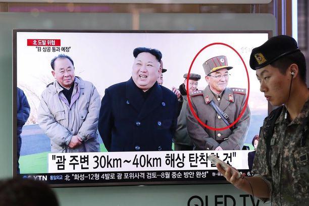 Eteläkorealaisella televisiokanavalla uutisoitiin Pohjois-Korean uhkauksista.