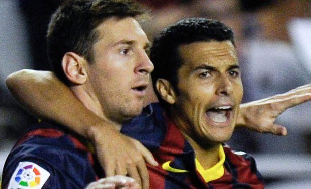 Lionel Messi ja Pedro.