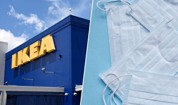 Kålleredin Ikean varastosta löytyi valtava röykkiö hengitysmaskeja. Kuvituskuva.