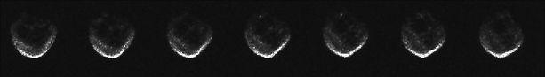 Vuoden 2015 ensimmäiset tutkakuvat asteroidista näyttivät tältä.