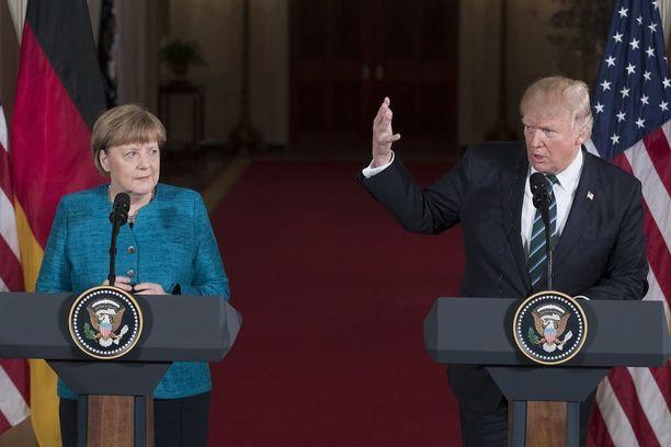Vastakohdiksi kutsutut Merkel ja Trump tapasivat Valkoisessa talossa maaliskuun 17. päivänä.