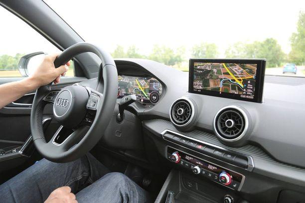 Uusi Q2 on mukava ja helppo ajettava sekä etu- että nelivetoisena. Muuttuva ohjausvälitys on vakiona kaikissa malleissa.