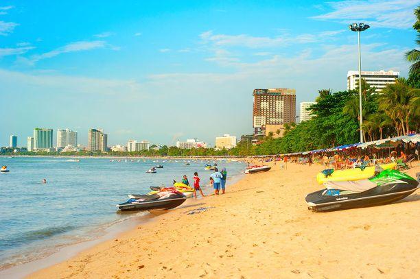 Lehtitietojen mukaan ryöstö tapahtui Pattayalla. Arkistokuva Pattayan rannalta.