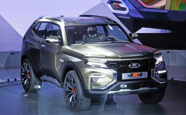 Moskovan autonäyttelyn venäläinen tähtimalli oli Lada 4 x 4 Vision.