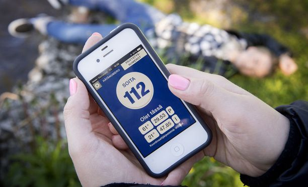 112-sovelluksella soittamalla hätäkeskus näkee, missä sijainnissa tarvitaan apua.