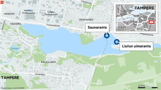 Myös viime vuonna Kaukajärven rannoille epäiltiin vuotaneen jätevettä jätevedenpumppaamosta. Tuolloin uimista koko Kaukajärvessä kehotettiin välttämään. Nyt uimista kannattaa välttää Liutun ja Saunarannan uimarannoilla.