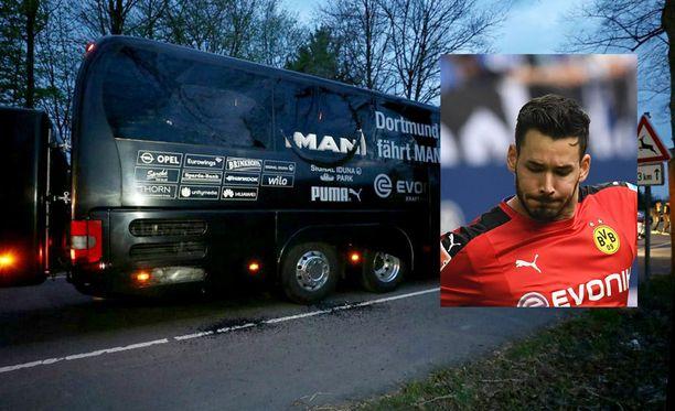 Roman Bürki kertoi kauhunhetkistä Dortmundin bussissa.