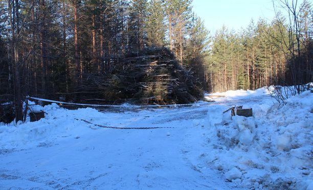 Tapaus sattui Kintauden kylällä Petäjävedellä. Kuvassa ampumispaikka.