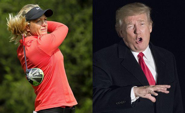 Suzann Pettersen on pelannut golfia Donald Trumpin kanssa.