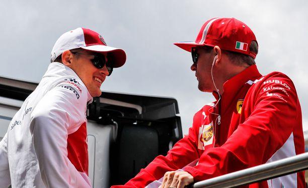 Marcus Ericsson ja Kimi Räikkönen tulevat hyvin juttuun keskenään.