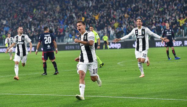 Paulo Dybalan iskemä avausmaali Cagliaria vastaan syntyi jo avausminuutilla.