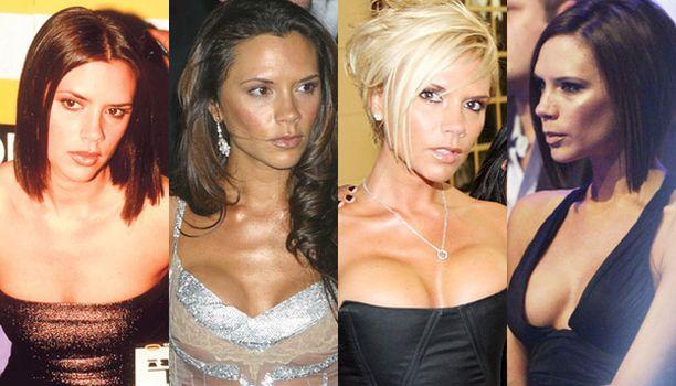 Kuvassa vasemmalta Victoria vuonna 1997, 2003, kesäkuussa 2007 ja marraskuussa 2007.