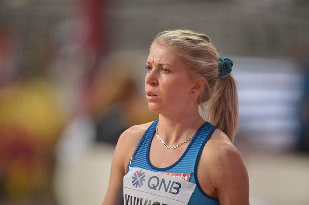 Sara Kuivisto ei päässyt jatkoon 800 metrin MM-alkuerästä.