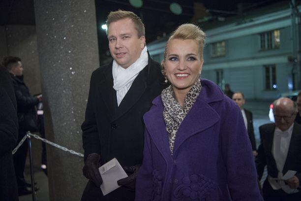 Satu Taiveaho ja Antti Kaikkonen joulukuussa 2016.