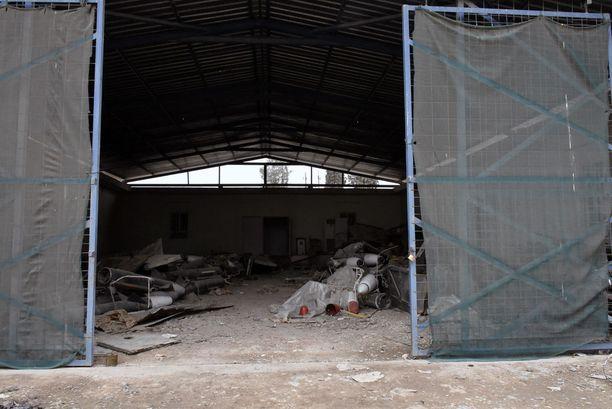 Yksi Isisin rakettivarastoista sijaitsi kemiallisen asetehtaan vieressä, pienteollisuusalueella.