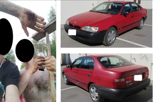 Poliisi on pyytänyt vihjeitä vasemmalla olevan kuvan ottopaikasta sekä epäiltyjen mahdollisesti käyttämän auton liikkeistä 16.-17. kesäkuuta.