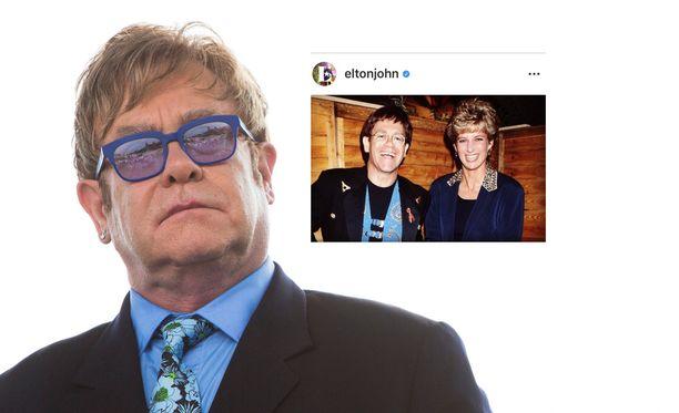 Elton John ikävöi edelleen rakasta ystäväänsä prinsessa Dianaa.