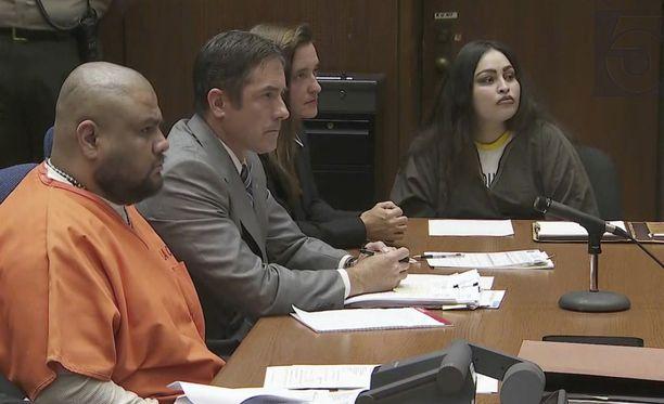 Isauro Aguirre (vas.) ja Pearl Sinthia Fernandez (oik.) kuulivat tuomionsa torstaina.