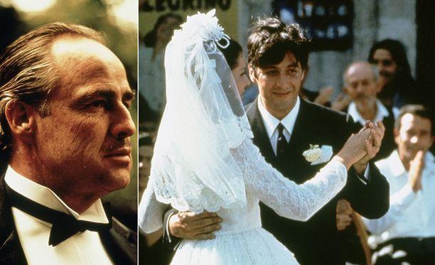 Marlon Brando tähdittää vain trilogian ensimmäistä osaa, kun taas Al Pacino nähdään kaikissa kolmessa.