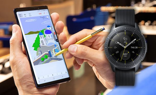 Galaxy Note 9 ja Galaxy Watch.
