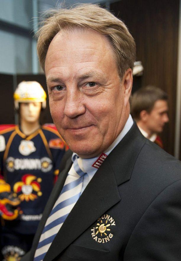 Hannu Aravirta osallistui SM-liigan liigaristeilylle vuonna 2009.
