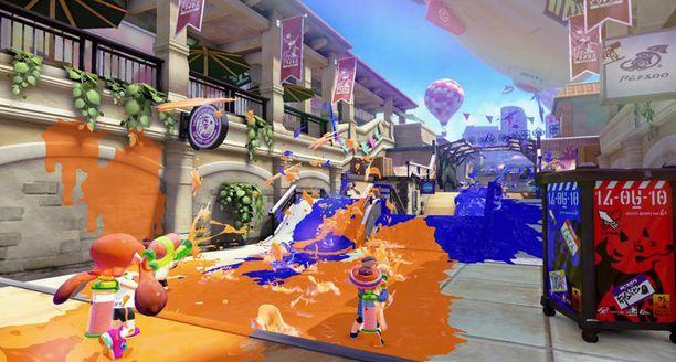 Wii U:n Splatoon soveltuu hyvin perhepeliksi.