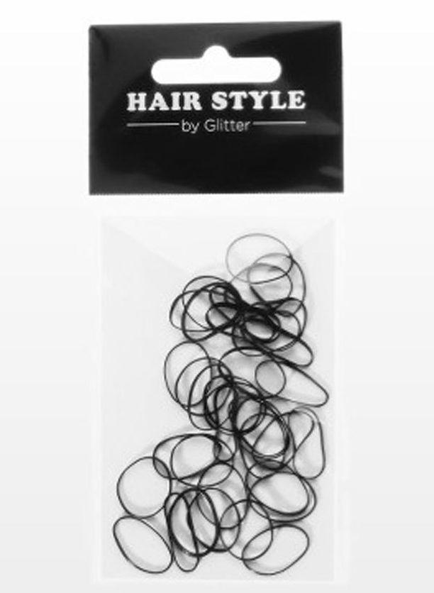 VINKKI: Etenkin jos hiuksesi ovat lyhyet, sido hiukset ison hiuslenkin sijaan pienellä kumilenkillä. Hiuskumilenkit Glitter.