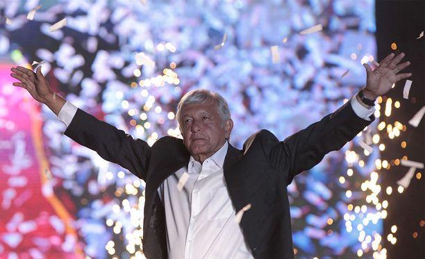 Andrés Manuel López Obrador eli AMLO on voittanut Meksikon presidentinvaalit noin 53 prosentin äänienemmistöllä.