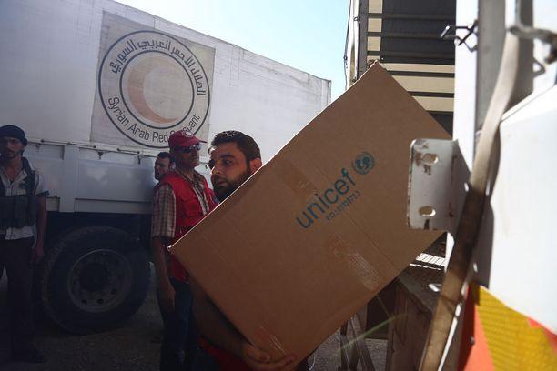 YK on tuonut alueelle ruoka-apua jo useita vuosia.