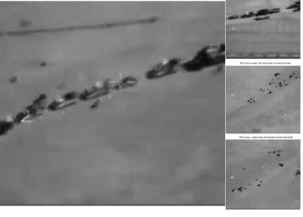 Venäjän puolustusministeriö esitti väitteelleen tueksi videopelistä kaapatun kuvan. Oheinen kuva on Venäjän puolustusministeriön tviitistä.