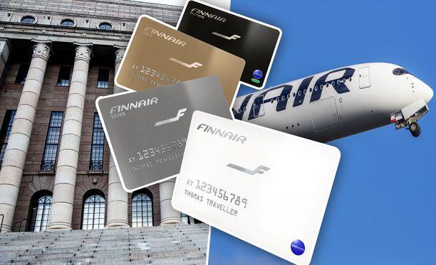 Kansanedustajille on kertynyt useita miljoonia Finnair Plus -pisteitä eduskunnan maksamista matkoista.
