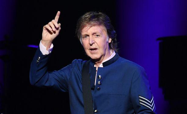 Paul McCartney lavalla Miamissa viime heinäkuusa.