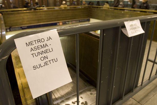 Metron itäisillä osilla on odotettavissa kovia ruuhkia.
