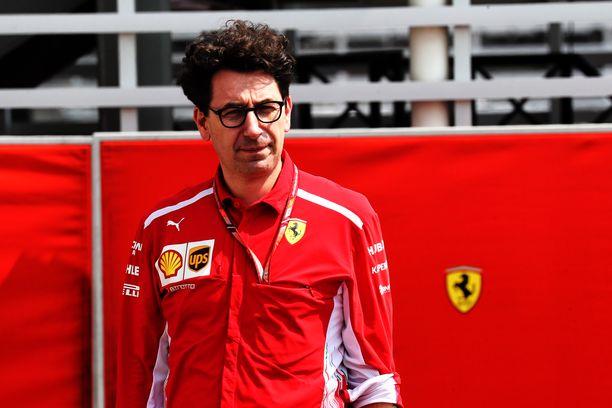 Mattia Binotto on Ferrarin tallipäällikkö.