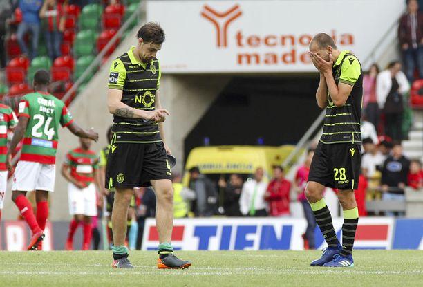 Sporting hävisi sunnuntaina Portugalin liigan päätöskierroksella ja menetti mahdollisuutensa Mestarien liigan karsintaan oikeuttavaan kakkossijaan.